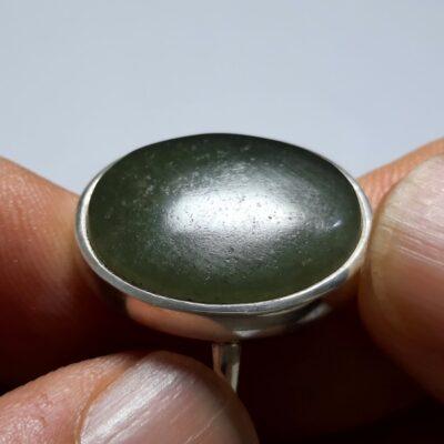 انگشتر یشم سبز یمنی a443.1