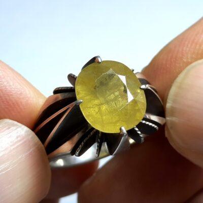انگشتر فدیوم یاقوت زرد 356.2