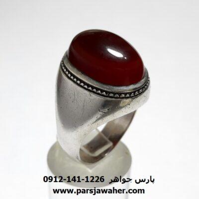 انگشتر مردانه قدیمی جزع یمانی f455