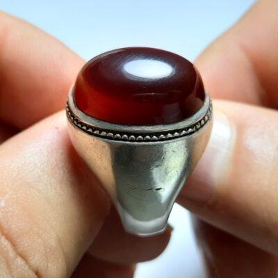 انگشتر مردانه قدیمی جزع یمانی f455.1