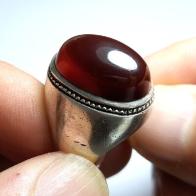 انگشتر مردانه قدیمی جزع یمانی f455.2