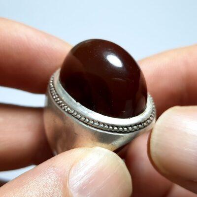 انگشتر قدیمی جزع درشت یمانی a445.1