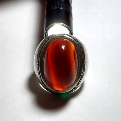 انگشتر قدیمی جزع درشت یمانی a445.4