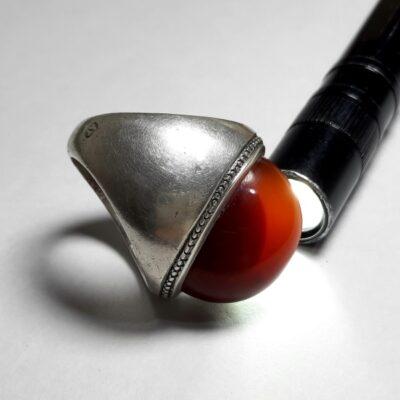 انگشتر قدیمی جزع درشت یمانی a445.5