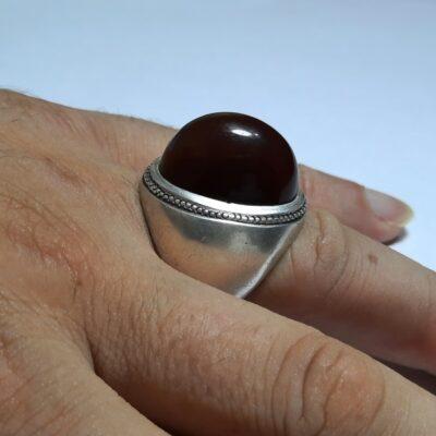 انگشتر قدیمی جزع درشت یمانی a445.7