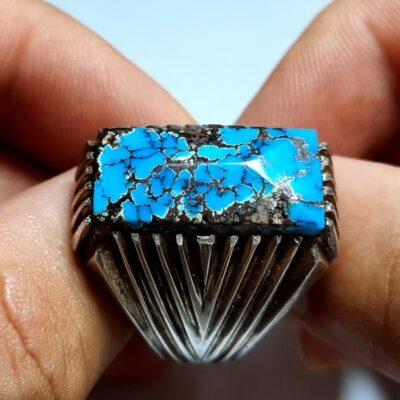 انگشتر فیروزه شجر نیشابوری مردانه 231.1