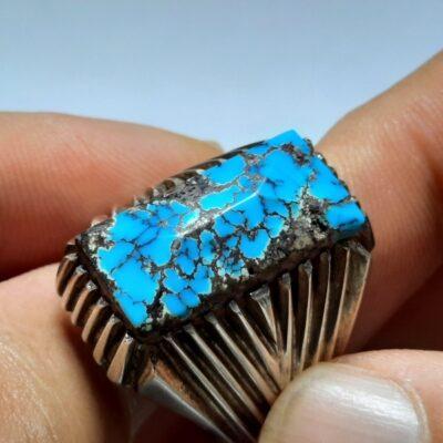 انگشتر فیروزه شجر نیشابوری مردانه 231.2