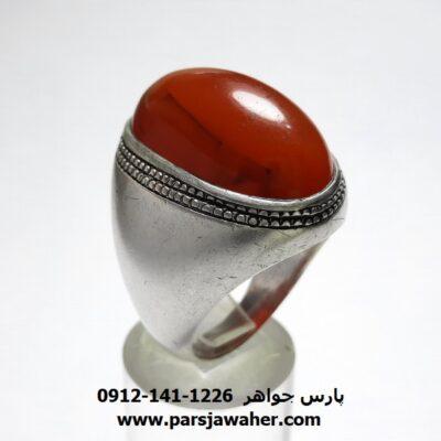 انگشتر عقیق رگه دار یمن a446