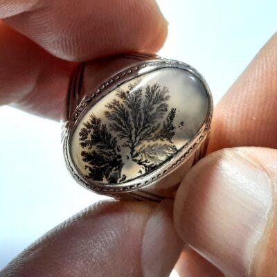 انگشتر عقیق شجر مردانه 177.1