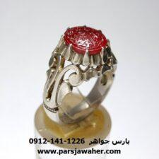 انگشتر یاقوت سرخ خطی f456