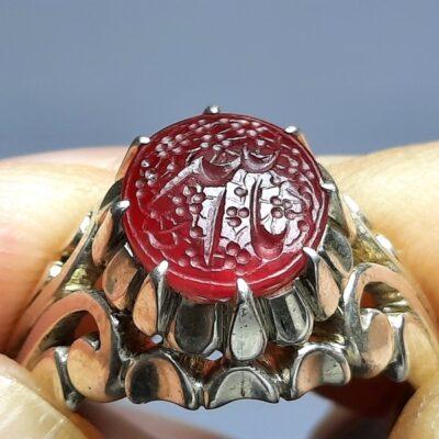 انگشتر یاقوت سرخ خطی f456.1