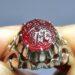 عکس ریز انگشتر یاقوت سرخ خطی f456.2