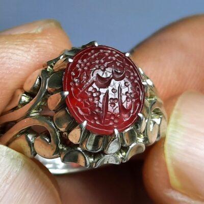 انگشتر یاقوت سرخ خطی f456.2