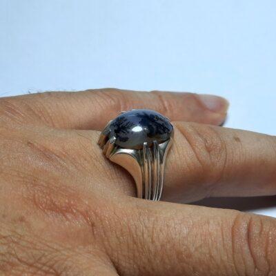 انگشتر مردانه عقیق شجر 214.3