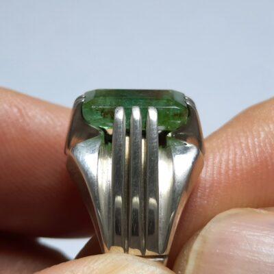 انگشتر زمرد پنجشیر مردانه f458.2