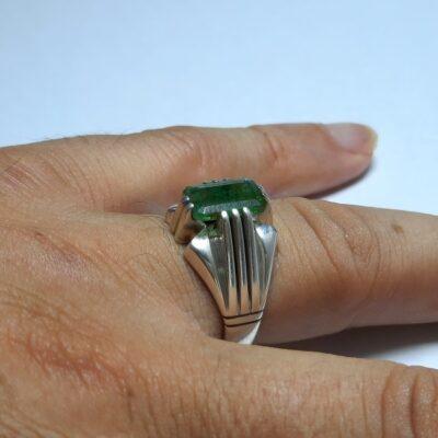 انگشتر زمرد پنجشیر مردانه f458.3