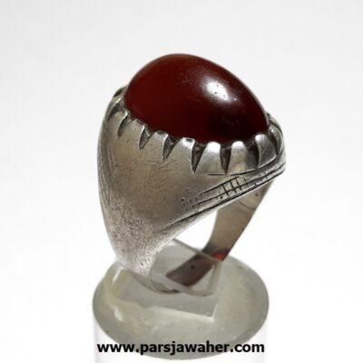 انگشتر قدیمی جزع تیره یمانی a450