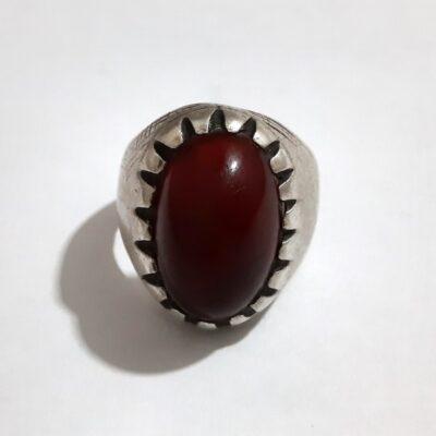 انگشتر قدیمی جزع تیره یمانی a450.3
