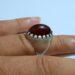عکس ریز انگشتر قدیمی جزع تیره یمانی a450.5
