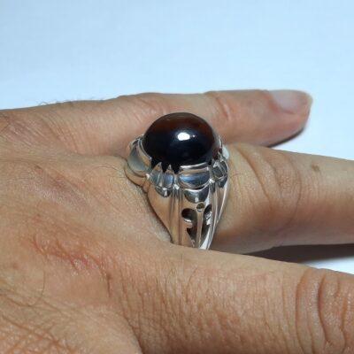 انگشتر مردانه عقیق آنسی f462.5