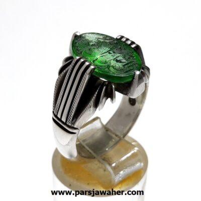 انگشتر نقره مردانه خطی 7019