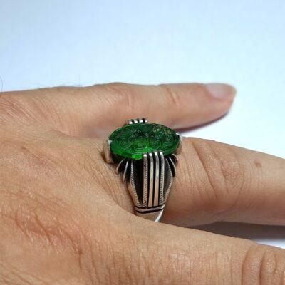 انگشتر نقره مردانه خطی 7019.2