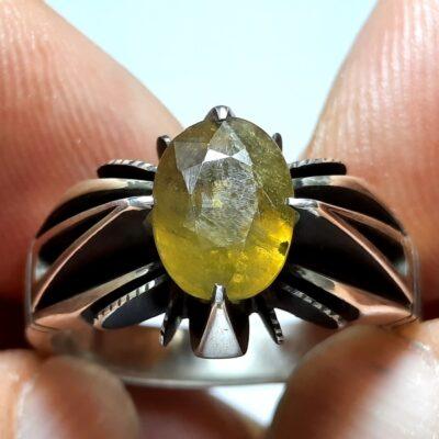 انگشتر نقره یاقوت زرد 357.1