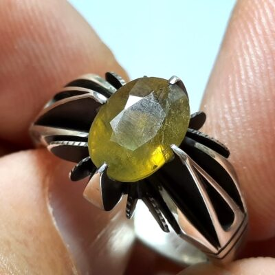 انگشتر نقره یاقوت زرد 357.2