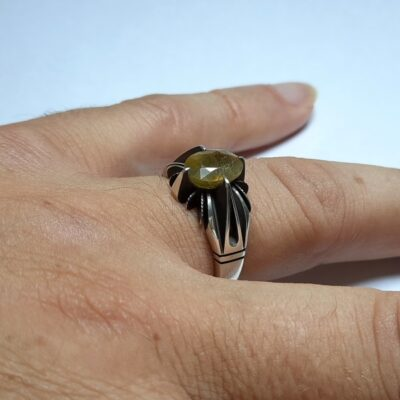 انگشتر نقره یاقوت زرد 357.3