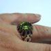 عکس ریز انگشتر نقره مردانه زبرجد 354.5