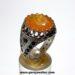 انگشتر جواهری یاقوت زرد مردانه 343