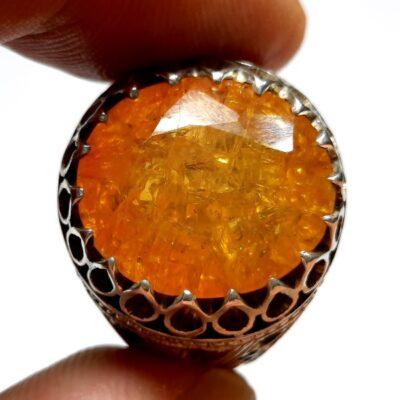انگشتر جواهری یاقوت زرد مردانه 343.2
