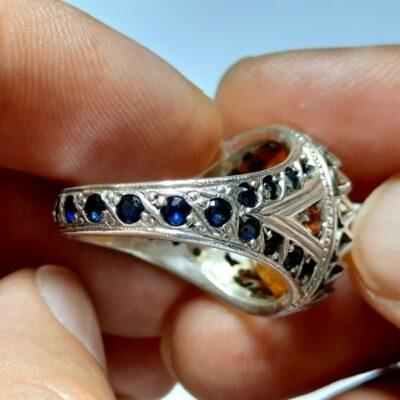 انگشتر جواهری یاقوت زرد مردانه 343.3