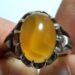 عکس ریز انگشتر عقیق زرد تراش قطعی یمن f464.6