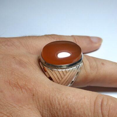 انگشتر مردانه عقیق یمنی a178.3