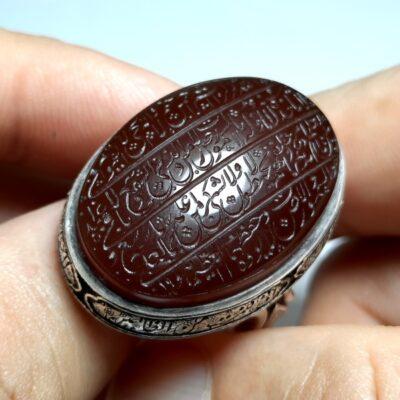 انگشتر فاخر مردانه عقیق f467.1