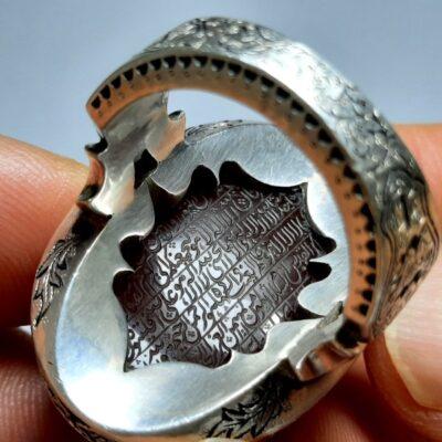 انگشتر فاخر مردانه عقیق f467.2