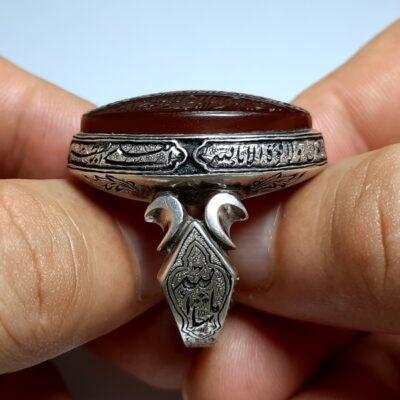 انگشتر فاخر مردانه عقیق f467.3