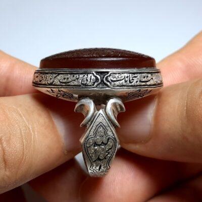 انگشتر فاخر مردانه عقیق f467.4