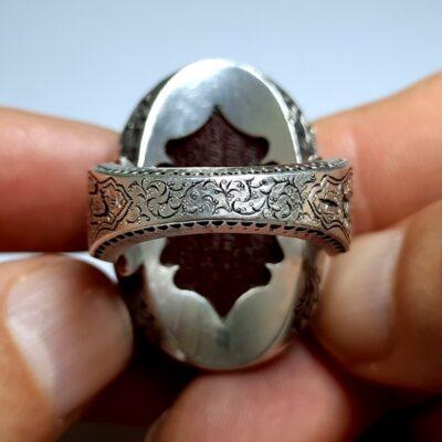 انگشتر فاخر مردانه عقیق f467.5