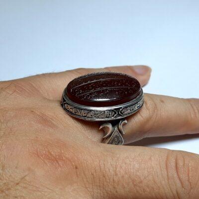 انگشتر فاخر مردانه عقیق f467.6