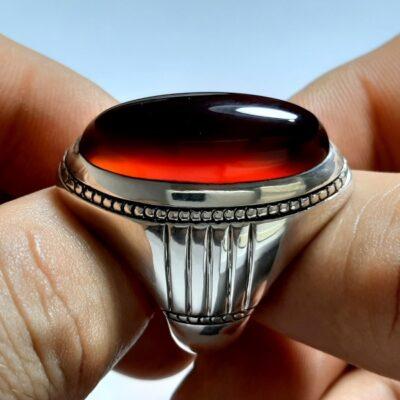 انگشتر مردانه عقیق a146.1
