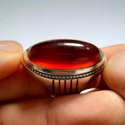 انگشتر مردانه عقیق a146.2