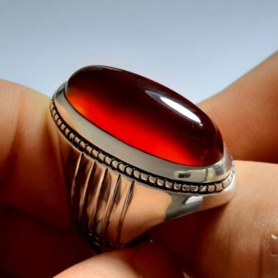 انگشتر مردانه عقیق a146.3