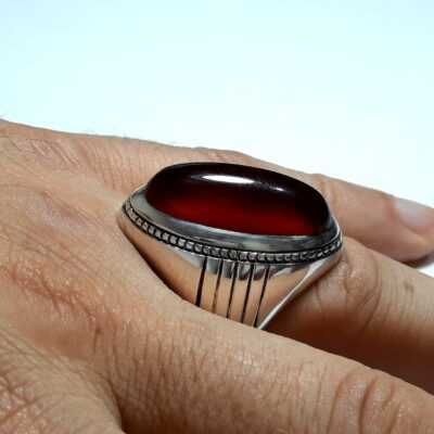انگشتر مردانه عقیق a146.4