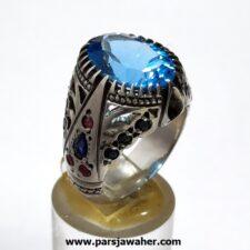 انگشتر نقره مردانه توپاز 323