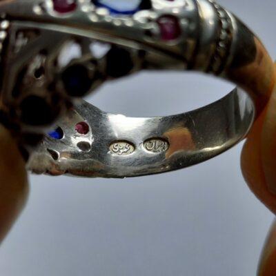 انگشتر نقره مردانه توپاز 323.2