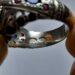 عکس ریز انگشتر نقره مردانه توپاز 323.3