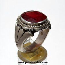 انگشتر مردانه یاقوت سرخ 358