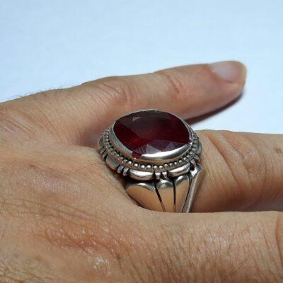 انگشتر مردانه یاقوت سرخ 358.4